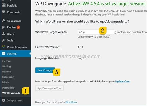 Downgrade Wordpress To A Previous Version Using Wp