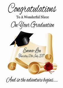 Personalised GRADUATION Congratulations Card Son Daughter ...