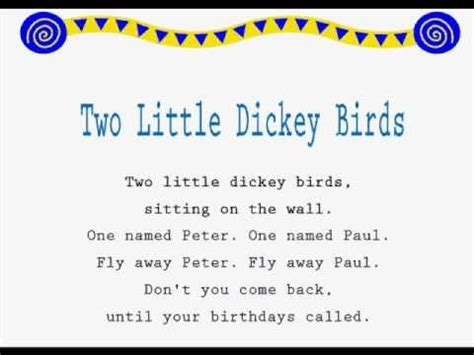 jump rope songs two little dickey birds kids jump rope rhymes learning to read youtube