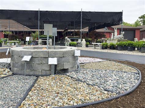sand gravel  rock pile garden center