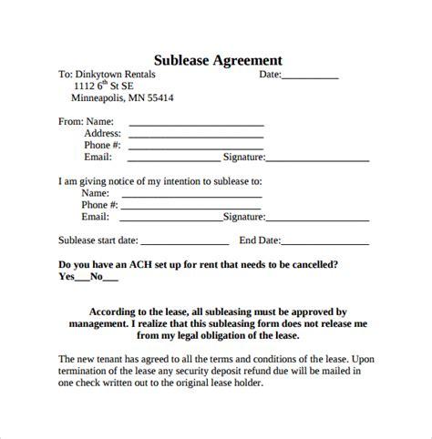 sublease agreement sample emmamcintyrephotographycom