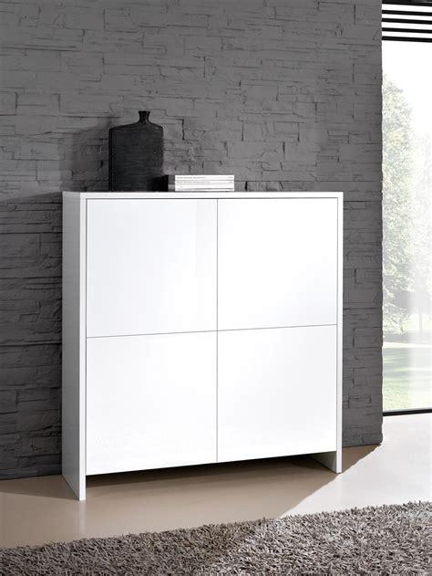 meuble de rangement design 4 portes blanc laqu 233 roxane meuble de rangement meuble de salon