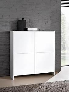 meubles rangement laque blanc With petit meuble d entree design 5 meuble tv fox sejour meuble tv
