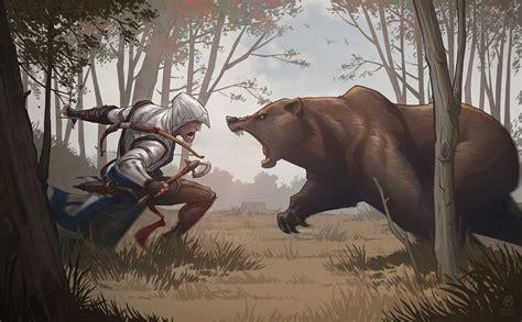 Assassins Creed 3 Bear Attack By Patrickbrown On Deviantart