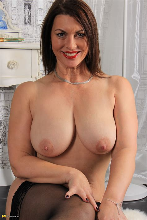 British Big Breasted Milf Christine O Fooling Around
