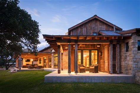 house plans with swimming pools modern rustic barn style retreat in hill country