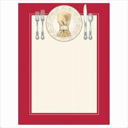 Dinner Invitations Blank Christmas
