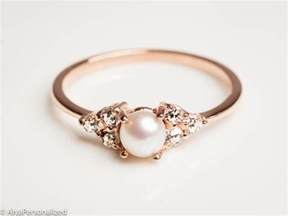 pearl engagement rings gold 14k gold engagement ring pearl engagement ring