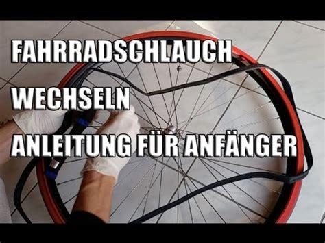 fahrradschlauch wechseln anleitung fuer anfaenger youtube