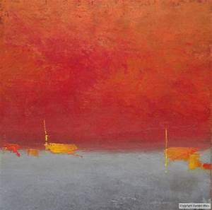 tableau peinture contemporaine tableau abstrait 4 With couleur gris bleu peinture 4 tableau peinture contemporaine paysage minimaliste
