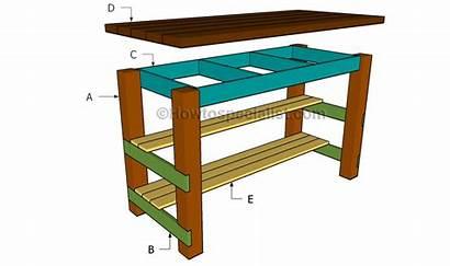 Island Kitchen Building Plans Diy Build Desk