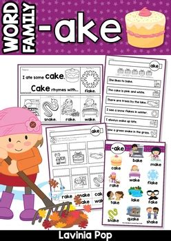 ake word family games activities worksheets  lavinia pop