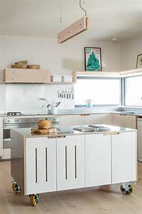 8 examples of kitchens with movable islands that make it easy to change the layout 1916