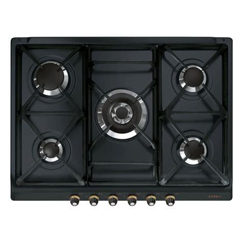 plaque de cuisine gaz plaque de cuisson gaz 5 smeg sr775as leroy merlin