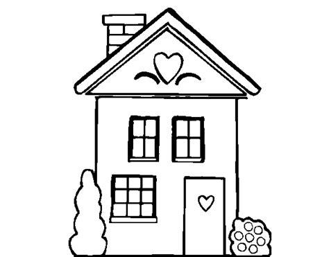 maison de cagne dessin coloriage de maison avec des coeurs pour colorier coloritou