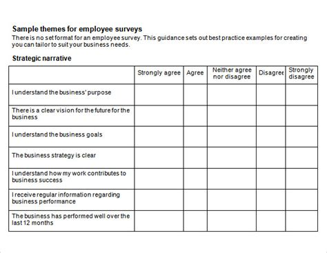 sample employee engagement survey templates