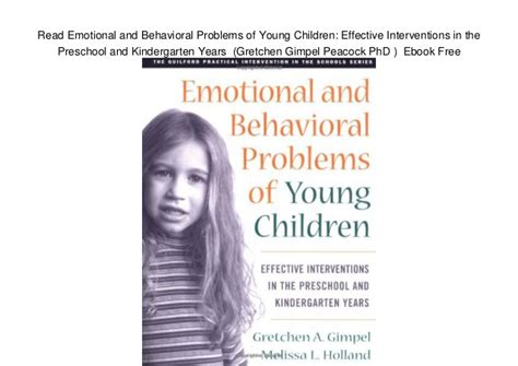 read emotional and behavioral problems of children 829 | read emotional and behavioral problems of young children effective interventions in the preschool and kindergarten years gretchen gimpel peacock phd ebook free 1 638