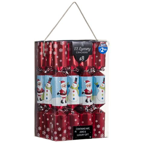 b m luxury christmas crackers 12pk 14 quot party xmas