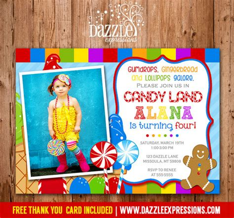 printable candy land birthday invitation sweet shop