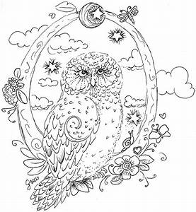Pics For > Coloring Pages For Adults Difficult Owls ...