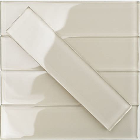 2x8 Glass Subway Tile by Shop For Loft Sand Polished 2x8 Glass Tile At