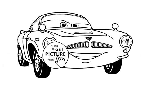 Cars Kleurplaat Finn by Finn Mcmissile Free Coloring Pages