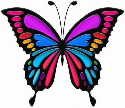 Butterfly Colorful Clip Butterflies Clipart Drawings Yopriceville