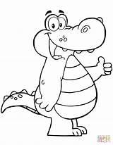 Alligator Coloring Cartoon Crocodile Colorear Dibujos Animados Mouth Cocodrilo Caiman Dibujar Animated Dibujo Printable Cocodrilos Colorare Drawing Infantiles Caricaturas Supercoloring sketch template