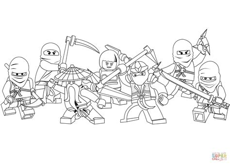 lego ninjago coloring page  printable coloring pages