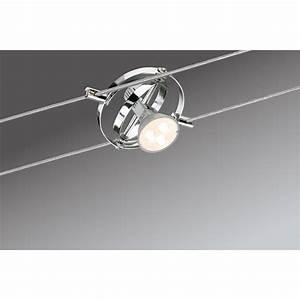 Raumausleuchtung Mit Led : paulmann seilsystem cardan led 6x4w gu5 3 chrom deckenlampe spot strahler ebay ~ Markanthonyermac.com Haus und Dekorationen