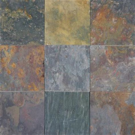 Home Depot Floor Tile by Ms International Multi Classic 16 In X 16 In Gauged