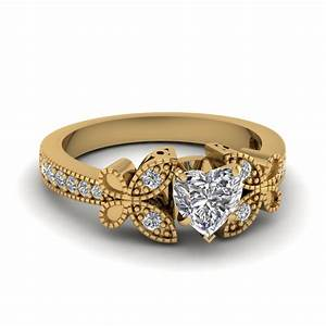 yellow gold heart white diamond engagement wedding ring in With diamond wedding rings yellow gold