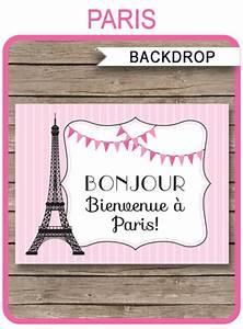 Bbq Birthday Party Invitations Paris Party Sign Backdrop Paris Party Decorations