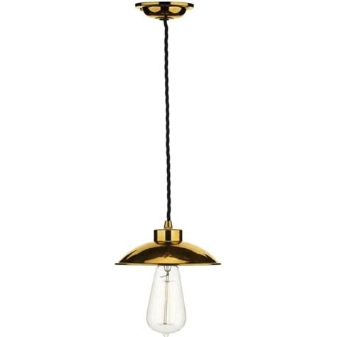 industrial ceiling pendant light in copper supported on
