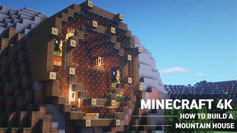 easy minecraft mountain house tutorialhow  build  house  minecraft  blogtubez