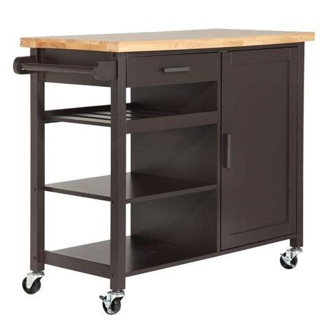 kitchen storage island cart homegear deluxe kitchen storage cart island w rubberwood cutting block on wheel ebay