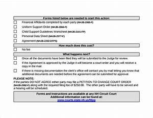 Child Support Agreement Letter Template 10 Sample Child Support Agreement Templates Pdf