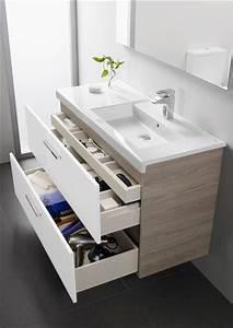 Meuble Salle De Bain Roca : petite salle de bain d co optimis e avec des rangements ~ Dallasstarsshop.com Idées de Décoration