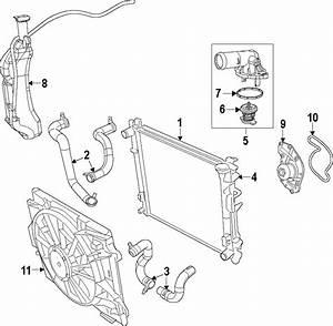 2011 Volkswagen Routan Engine Coolant Thermostat Kit  3 6