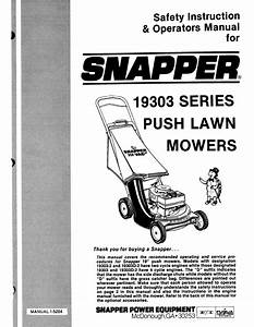 Snapper Lawn Mower 19303 User Guide