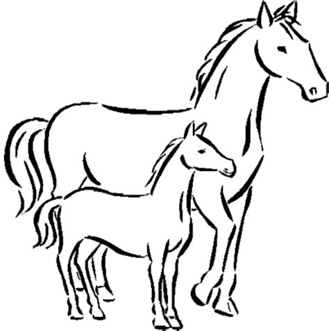 Horse Coloring Pages 2  Coloring Town