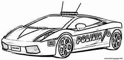 Coloring Police Pages Printable Sport Cars Sports
