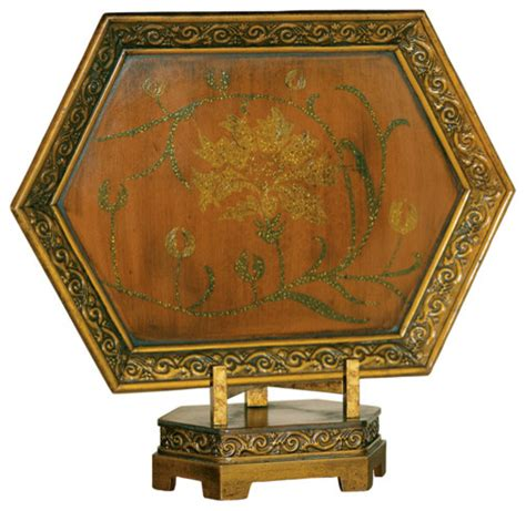 decorative charger plate on stand traditional
