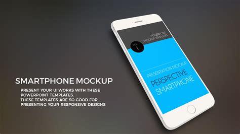 smartphone powerpoint mock  template premium