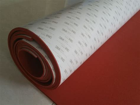 high temperature resistant red silicone rubber sheet  backing  adhesive