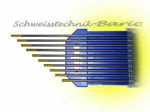 Wig Schweißen Edelstahl : wolfram elektrode gold wl15 zum wig dc schwei en wolframnadel stahl edelstahl ebay ~ Frokenaadalensverden.com Haus und Dekorationen