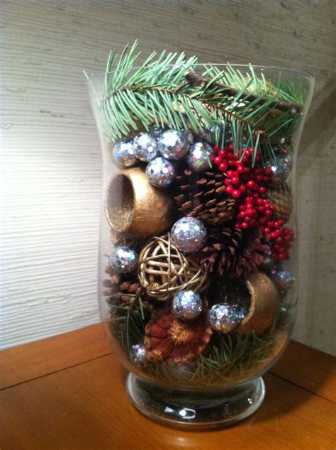 christmas decor   pine tree branches pine cones