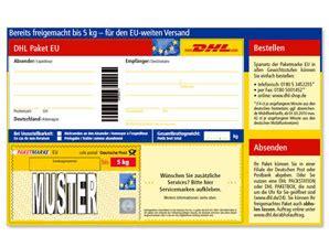 dhl paketmarken eu bis  kg shop deutsche post