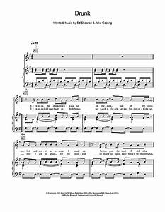 Drunk sheet music by Ed Sheeran (Piano, Vocal & Guitar ...
