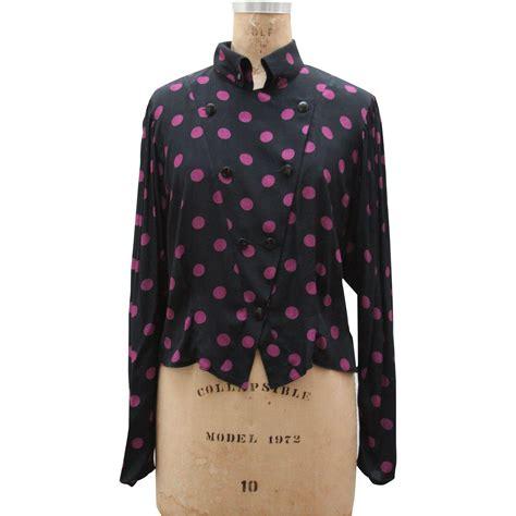 polka dot blouses vintage 1980s polka dot blouse from vianova on ruby